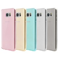 Galaxy Note 5 Case,AMBM Wholesale 5pcs/lots 5 Colors Premium Clear TPU Cover Case Soft Trim Prefect fit Work with Samsung Galaxy Note 5 - Black White Pink Blue Clear