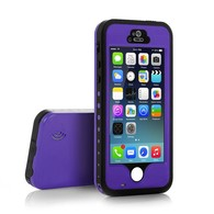 AMBM, iPhone 5s Case, 6.6 ft Underwater Waterproof Shockproof Snowproof Dirtpoof Protection Case Cover with Touch ID for iPhone 5s [Purple]
