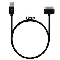 AMBM 1.5M 5FT Colorful Round Micro USB Sync Data Fast Charger Cable for iPhone 4 4S iPod ipad 2/3/4 (Black)